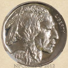 1937 Buffalo nickel - got this Rare Coins, Coin Collecting, Buffalo, Stamps, Money, Kids, Vintage, Collection, Seals