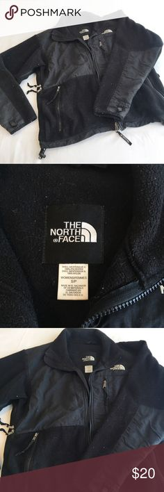 Fleece North Face standard black fleece full-zip north face jacket. size womens small, no holes or tears; just a but of fuzz thats very evident in the photos 😬 needs a good lint roller but in great condition. a solid fall jacket The North Face Jackets & Coats