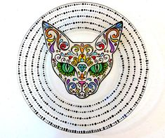 Check out this item in my Etsy shop https://www.etsy.com/listing/266416208/sphynx-cat-plate-hand-painted-gift-sugar