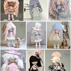 ��� just dolls and inspiring ... No pattern #woolbyme #littleinspiringsoul #dollfie #cottonyarn #crochet #amigurumi #crochetoy #crochetdoll