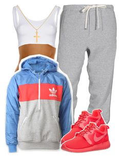 """Get Loose"" by kiaratee ❤ liked on Polyvore featuring MICHALSKY, adidas, NIKE and Sterling Essentials"
