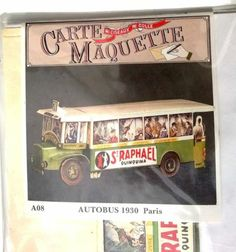 VTG Autobus 1900 Paris Postcard Model Card Fold OUT Blister Sealed | eBay