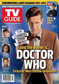 Look who's on the front cover of tv guide?!? And the winner is...Doctor Who! No.1, whovians! :D