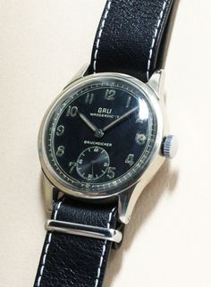 GALA German Military Watch #vintagewatch #militarywatch #vintagemilitarywatch #patina #horology #horolin