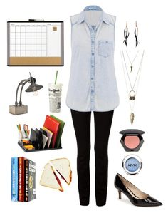 """""""Teacher X"""" by flowersofthefield ❤ liked on Polyvore featuring U Brands, Charlotte Russe, Currey & Company, Officemate, Alexander Wang, maurices, Nine West, Kate Spade, Isabel Marant and H&M"""