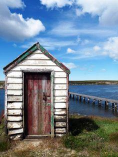 Generator shed- Fitzroy, Falkland Islands
