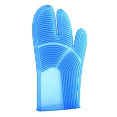 ACHICA | Product | Italian Kitchen Pavoni Silicone Oven Glove, Blue