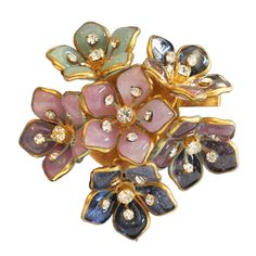 Chanel Brooch Maison Gripoix | From a unique collection of antique and modern miscellaneous jewelry at https://www.1stdibs.com/furniture/more-furniture-collectibles/miscellaneous-jewelry/