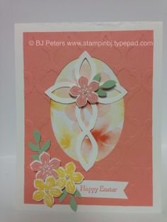 I love how this Lattice Die makes a cross.  What a beauty - perfectly matches with the Petite Petals die for a wonderful Easter card.  Check out the details here; http://stampinbj.typepad.com/weblog/2014/03/lattice-cross-beauty.html  BJ Peters