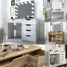 Makeup Dressing Table, Corner Desk, Vanity, Led, House, Furniture, Home Decor, Vanity Area, Homemade Home Decor