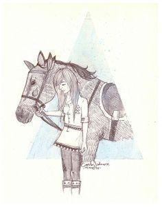 C and the wild horses