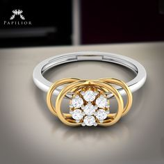 """""""The enthusiasm of a Friday sprinkled with the love of #gold.""""  #ring #goldring #diamondring #fancydiamondring #workwearstyle #budgetprice #papiliorring"""