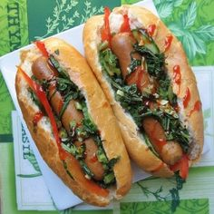 """Chicken Hot Dog with Bell Peppers, Cucumbers and Sauteed Garlic Kale. Call it the """"better"""" hot dog. Except with a veggie dog!"""