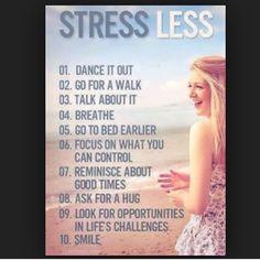 """Stress less"""