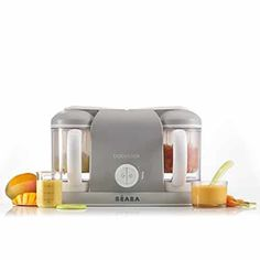 The BEABA Babycook DUO baby Food Maker lets you steam and puree fresh baby food right in your kitchen. It can also defrost and reheat leftovers or frozen meals for convenience. Designed to make baby food for all stages in your baby's life. Restaurant Design, Baby Food Makers, Baby Cooking, Homemade Baby Foods, Frozen Meals, Bottle Feeding, Food Menu, Baby Feeding, Baby Food Recipes