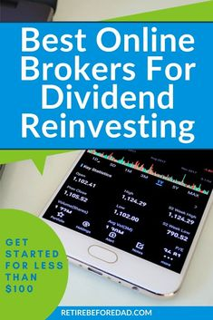 Here are the best online brokers for dividend reinvesting and fractional shares. #retirebeforedad #dividendreinvesting #onlinebrokers Stock Investing, Investing In Stocks, Investing Money, Budgeting Worksheets, Budgeting Tips, Money Tips, Money Saving Tips, Peer To Peer Lending, Dividend Investing