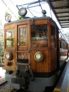 Soller Train leaving Palma de Mallorca