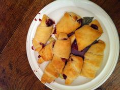 Pillsbury Crescent rolls, strawberry jam, and Tofutti cream cheese!
