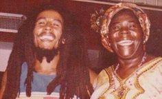 Bob Marley with his  mother Cedella