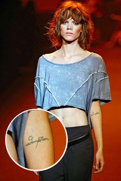 Models with Tattoos - Kate Moss, Chanel Iman, and Female Model Tattoos - Elle#slide-6#slide-6#slide-6