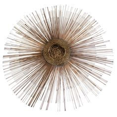 Mid-Century Brutalist Copper Sunburst Wall Sculpture | From a unique collection of antique and modern wall-mounted sculptures at https://www.1stdibs.com/furniture/wall-decorations/wall-mounted-sculptures/