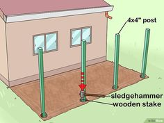 How to Add a Lean To Onto a Shed. When your shed or other storage building no longer provides enough room, you can add additional storage if you add a lean-to onto a shed. If the existing shed is structurally sound and has an exterior wall. Shed Storage, Built In Storage, Diy Storage, Firewood Storage, Small Storage, Lean To Shed Plans, Diy Shed Plans, Lean To Roof, Lean To Carport