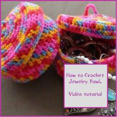 How to Crochet a Jewelry Bowl.