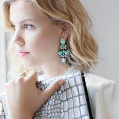 Chloe + Isabel Seascape statement post drop earrings