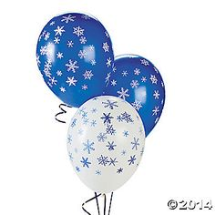 FROZEN inspired decorations : Latex Snowflake Balloons $13.00 25 Piece(s)
