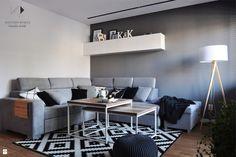 Biało czarny dywan - zdjęcie od Architekt wnętrz Klaudia Pniak - Salon - Styl Nowoczesny - Architekt wnętrz Klaudia Pniak