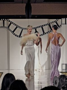Our Amazing ostrich fringed Marabou cape on the catwalk at Hannah Hartnell's  show in SF