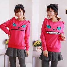Japanese SAKUN Cat Zipper Mouth Sweater