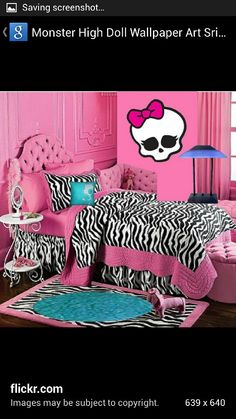 Awesome Monster High Room Decor Ideas For Decorating Kids Room. Children Room  Decorating Ideas With Monster High Dolls And Monster Characters