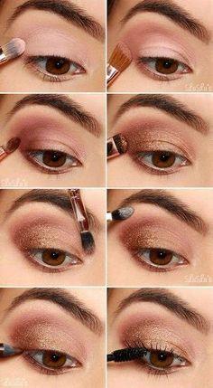 Eyeshadow, Eye Makeup Inspiration, Augen Make-Up Tried And Tested Skin Care Tips Eye Makeup Tips, Makeup Hacks, Makeup Inspo, Makeup Ideas, Easy Eye Makeup, Tan Skin Makeup, Eyeliner Ideas, Hair Makeup, Hair And Makeup Tips