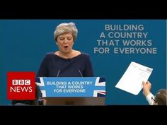 Protester interrupts Theresa May's keynote speech - BBC News - YouTube