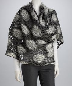 Finish off a fashionable ensemble with this funky wrap. An extra-long wool scarf adorned with roses gives this piece a cozy-chic look. Grey Roses, Wool Scarf, Womens Fashion, Fashion Trends, Trending Fashion, I Dress, Different Styles, Wool Blend, Ideias Fashion