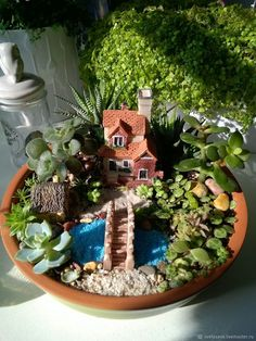 """Купить Мини садик """"Милый дом"""" в интернет магазине на Ярмарке Мастеров #miniaturegardens"""