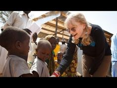 UNICEF Goodwill Ambassador Mia Farrow visits malnourished children in Chad - http://www.unicef.org/