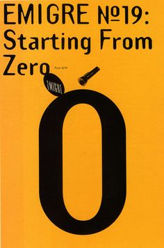 """cMag070 - Emigre Magazine cover """"Starting from Zero"""" by Rudy Vanderlans / Issue nº 19 / 1991"""