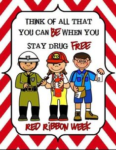 "Are you expected to implement a Red Ribbon Week Unit for your school on an extremely small budget? Then here is just what you need....  The theme of this Red Ribbon Week collection is ""Think of All That You Can Be When You Stay Drug Free""  This download includes: -7 Career Themed Printable Posters -Printable Front & Back Bookmarks -Crossword Puzzle -Career Themed Word Search - Writing Prompt Paper"