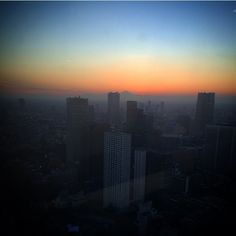// Sunset from the top #AndazTokyo #Tokyo #Japan