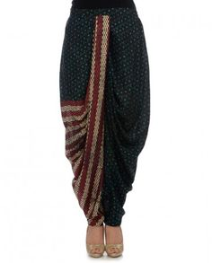 Black Printed Dhoti Pants- Buy Bottoms,Anupamaa Dayal Online | Exclusively.in