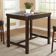 Simple Living Avenue Espresso Pub Table