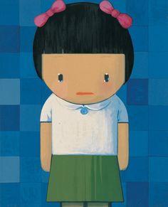 Chinese contemporary painting girl blue - Liu Ye - Contemporary Artist