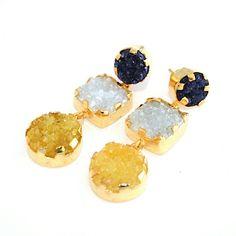 Pendientes Art Mini    Www.casildafinatmc.com   #invitadaperfecta #earings #jewelry #jewel #pendientes #piedranatural