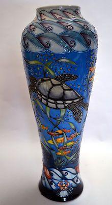 """Moorcroft Pottery Ltd Ed 2001 Vintage """"South Pacific """" Vase 121 14 Leeper   eBay"""