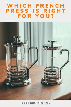 which french press is right for you? product comparison - french presses #frenchpressbrewing #manualbrewing #frenchpresscoffee