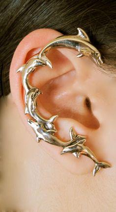 Bronze Dolphin Ear Wrap
