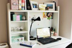 Love my white ikea micke desk - the perfect blogging space