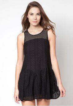 Panelled Lace Dress